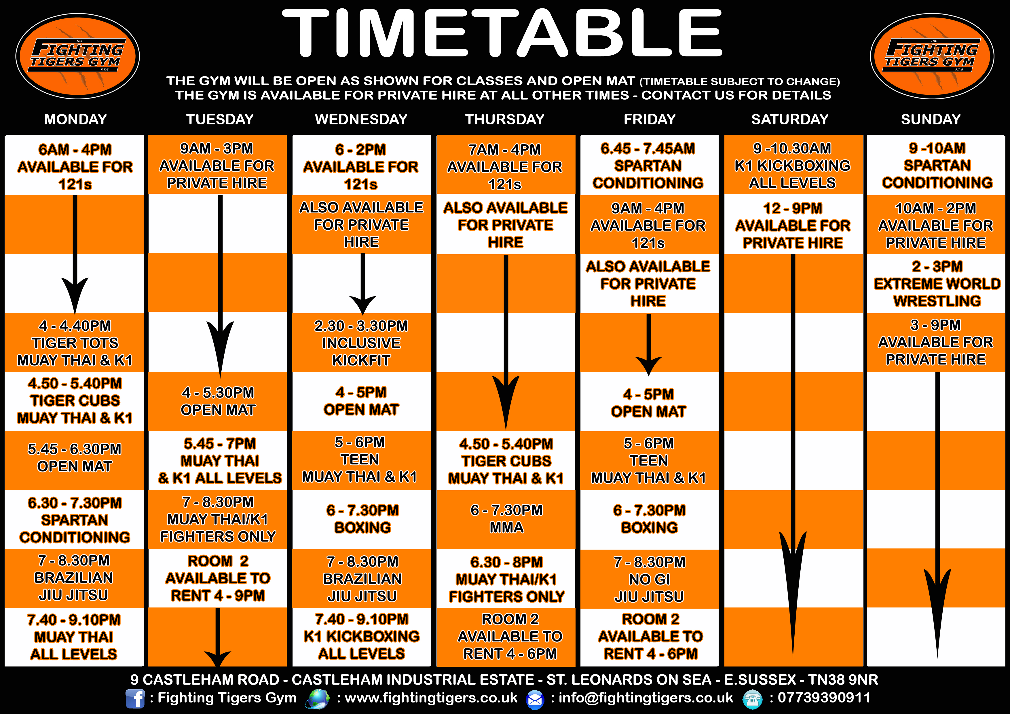TIMETABLE 2018
